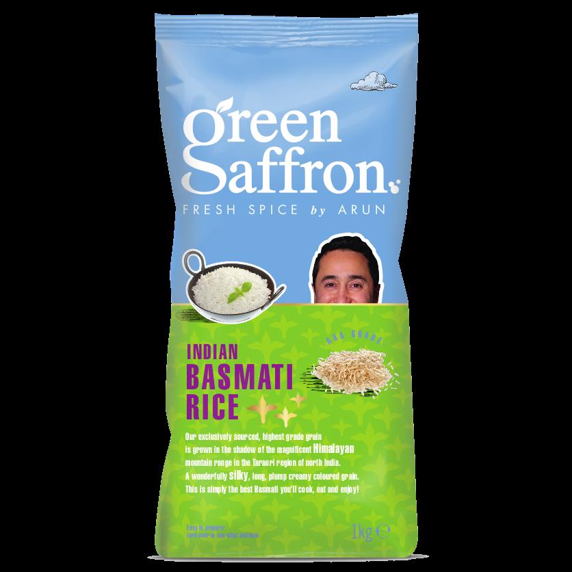 Green Saffron Basmati Rice 500g pack