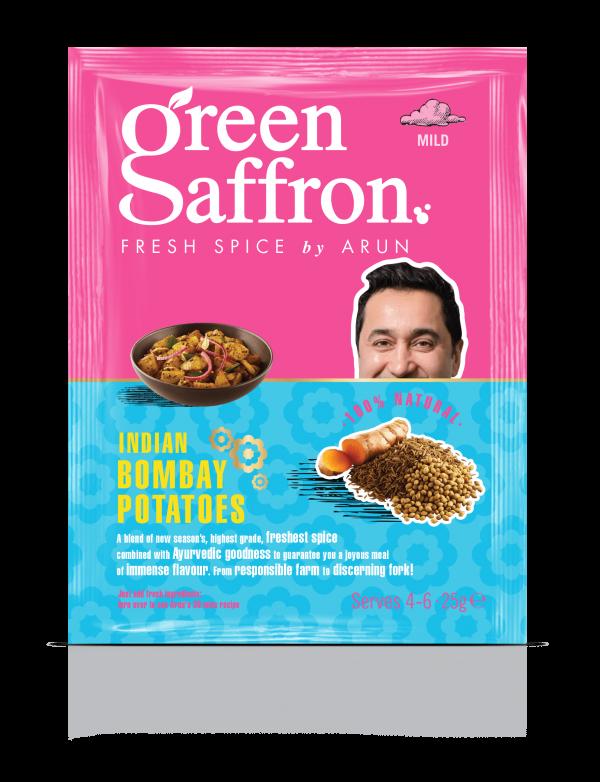 Green Saffron freshest Bombay Potatoes Spice Sachet
