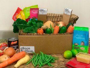 Green Saffron fresh spice curry in a box