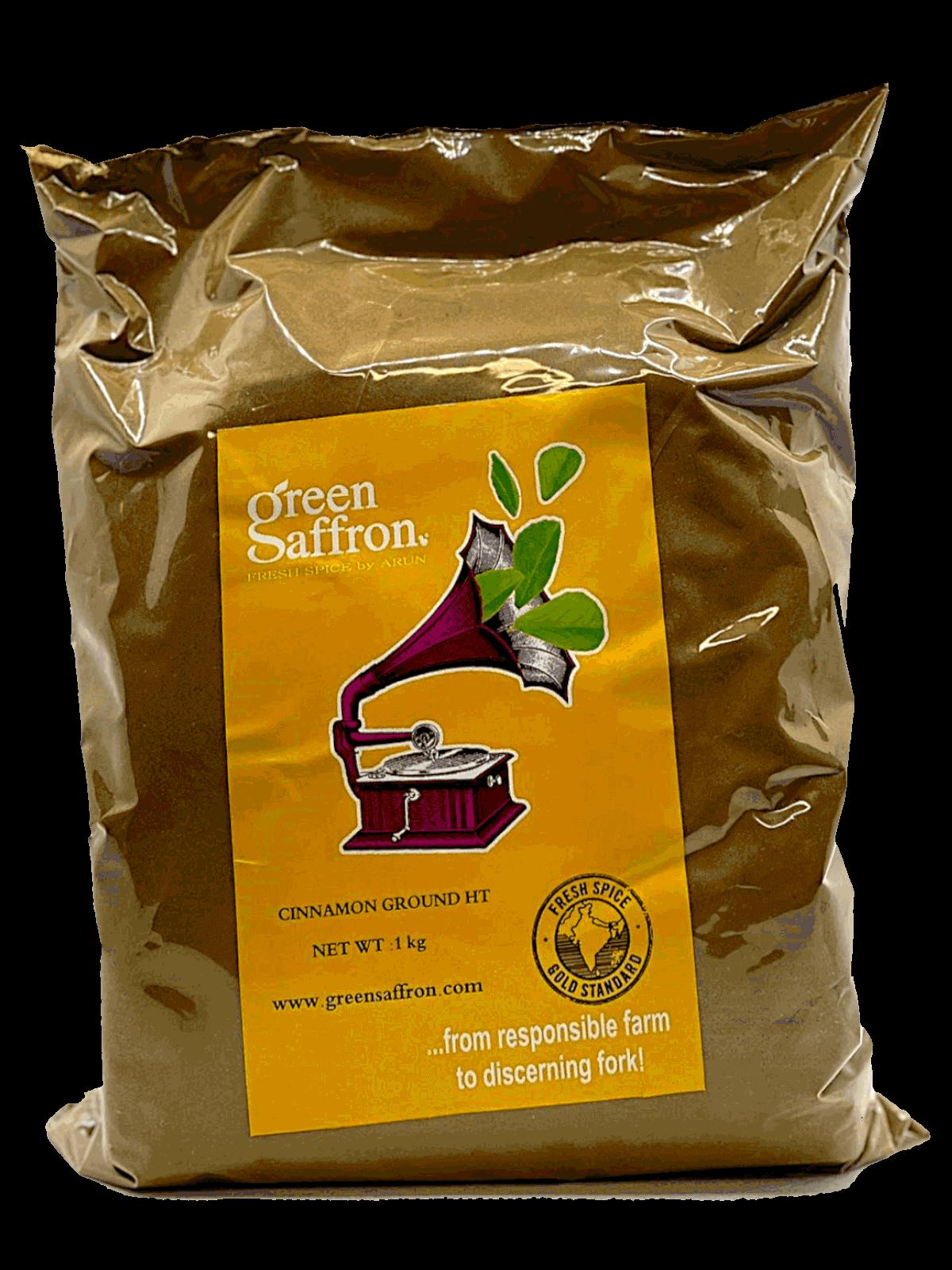 Green Saffron branded ground cinnamon
