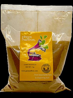Green Saffron branded ground cumin